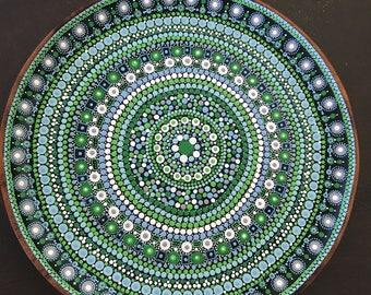 Seafoam Green Mandala Platter