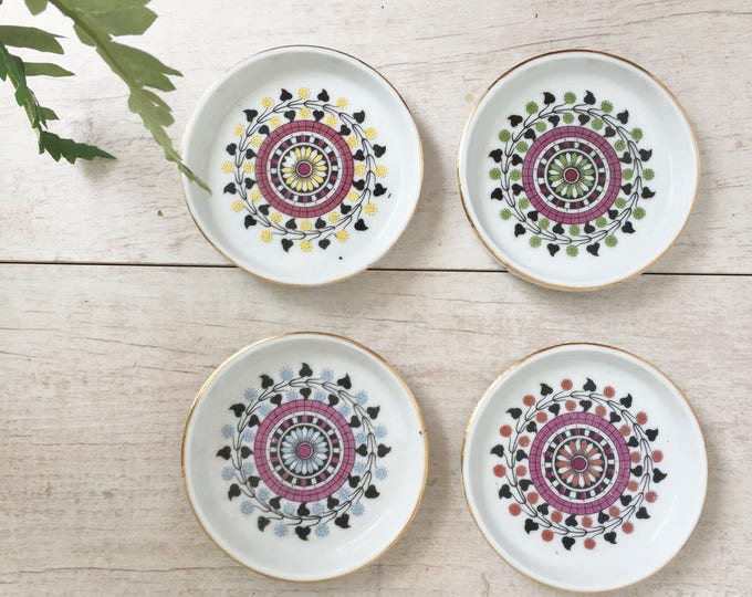 Moroccan Ceramic Coasters Round with Lip