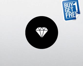 Diamond - Macbook Apple Decal Sticker / Laptop Decal / Apple Logo Cover / 2 for 1 price