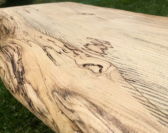 SALE and Free shipping!!**  Huge Reclaimed Live Edge Spalted Sinker Maple Slab Coffee Table