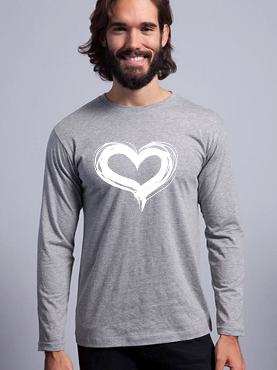 Round neck men long sleeve t-shirt CORAZON