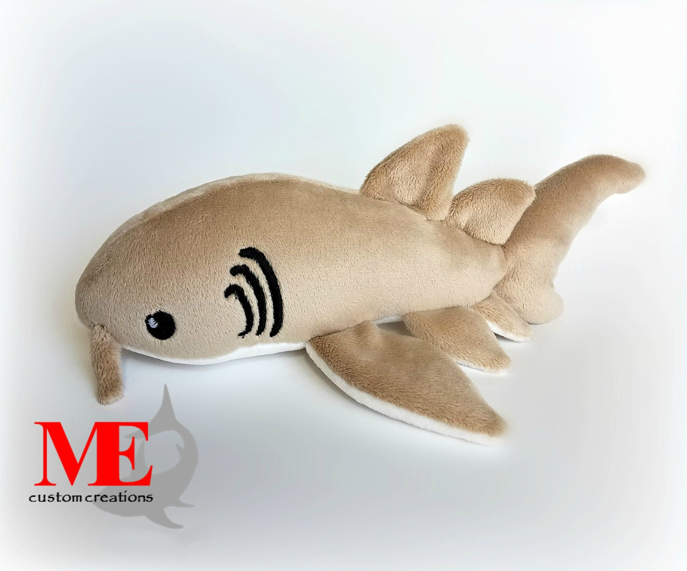 Nurse shark plush custom color and size sand cappuccino for Life size shark plush
