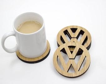 VW Volkswagen Coasters, Set of 4, Golf - Beetle - Bug - Camper
