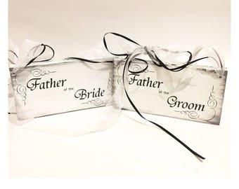 Custom Wedding Chair Sign; Bride, Mr & Mrs, Mr Mr, Mrs Mrs; Father, Mother of the Bride or Groom; Custom Rustic Wedding Sign.