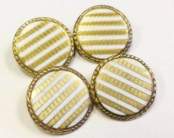 Art Deco, gold filled, enamel cufflinks.