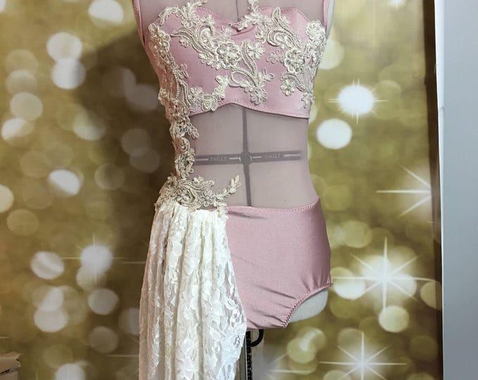 Custom dance costume with swarovski stones, custom Lyrical dance costume,  contemporary dance costume , lyrical Dance Costume