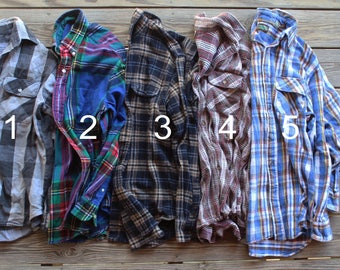 Thick Vintage Oversized Flannels   Choose Your Flannel