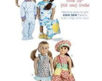 """Kwik Sew K3771 Made to Match Outfits for 18"""" Doll (Fits 18"""" Dolls)"""
