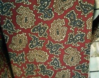 ON SALE Wolf Brothers Necktie 100% Silk Made in Spain