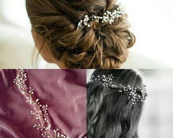 """Made to Order """"Ella"""" Hair Vine Bridal Hair Accessory Prom Hair"""