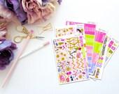 Summer Treats -- Vertical Weekly Kit-- Matte Planner Stickers