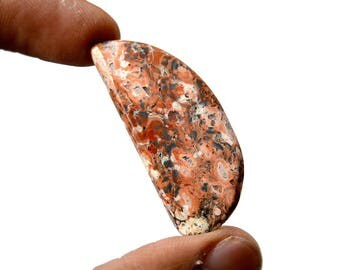 Leopard Skin Jasper 21.5 Cts Natural Gemstone Cabochon Jaguar Gemstone Superb Free Form Shape Hand Polish Loose Gemstone 42x18x4 MM R14028