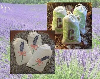 Lavender or Cedar Sachets - Set of 3 Lavender OR 4 Cedar