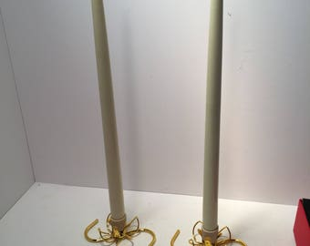 Mid century butane candles with candle holders in box