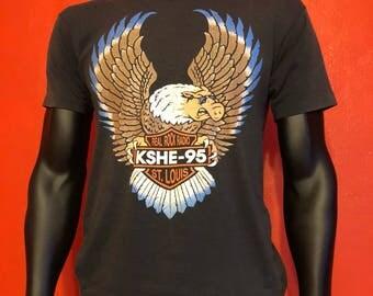 Vintage 80's Harley Davidson/Kshe Shirt