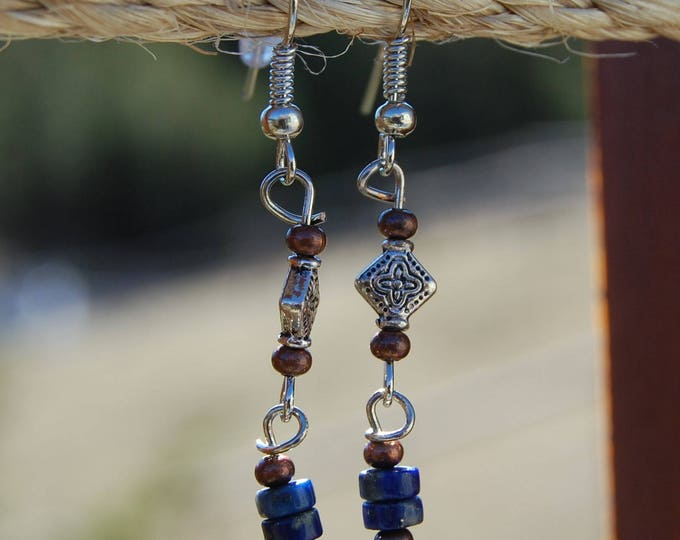 Copper & Blue Lapis Earrings