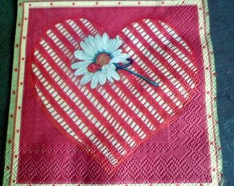 4 heart, Daisy napkin paper napkins