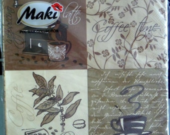 Package of paper towels brand Maki, coffee time coffee.