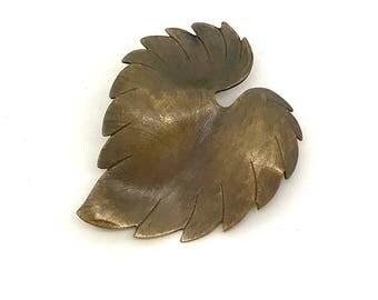 Vintage Leaf Brooch