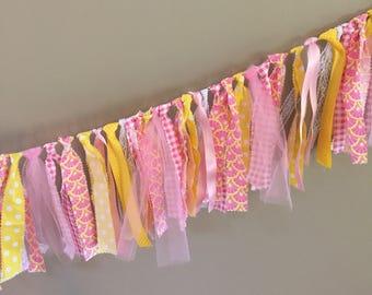 Pink Lemonade Fabric Banner - 3 feet