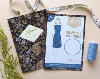 Printed sewing pattern | Cali Dress | Simple, sleeveless shift dress
