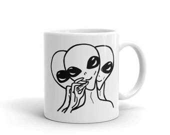 ALIEN DAYS original hand drawn coffee cup