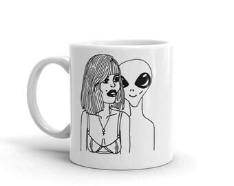 MY SECRET LOVER hand drawn hand made coffee mug