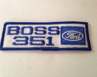 Ford Boss 351 Patch Rare