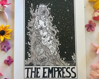 Tarot Card Print • The Empress • by Madison Ross