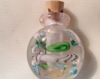 Small perfume lampwork with Gold - 4 powder 066