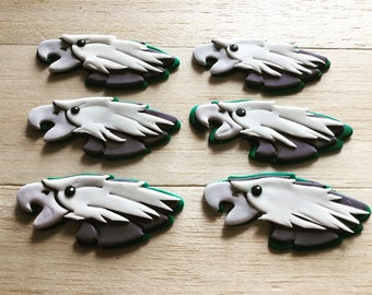 Eagles inspired fondant cupcake toppers, eagles inspired party