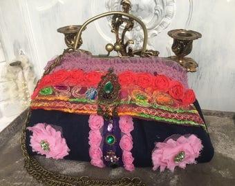 Bag, handbag, shoulder bag, dirndl bag, Boho, vintage, romance, bohemian
