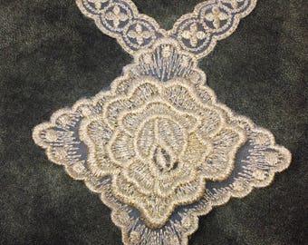Gold Rose Floral Sew On Applique