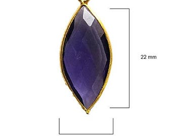 AMETHYST MARQUISE 11X22 mm gold single q
