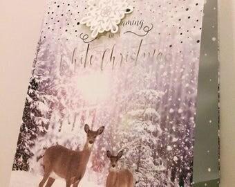 Christmas deers gift bag option