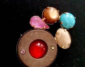modern brooch