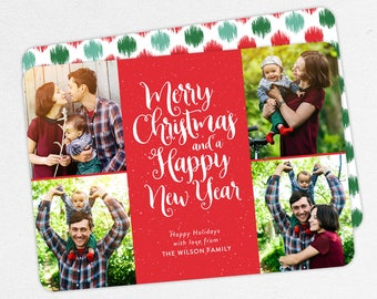 24 HOUR TURNAROUND, Family Christmas Cards, Photo Christmas Cards, Family Holiday Cards, Merry Christmas and a Happy New Year Cards
