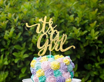 Its a girl cake topper, babyshower cake topper decorations