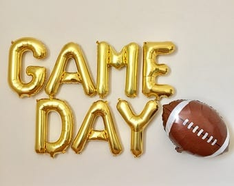 Game Day and Football Banner~Football Balloon Banner~College Game Day~Super Bowl Party Decor~Game Day Banner~ Football Banner~Sports Party
