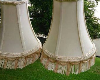 Two (2) Matching Vintage Lampshades