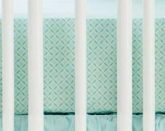 Aqua Ombre Crib Baby Bedding Set | Crib Sheet