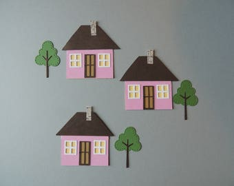 House with Tree Die Cuts
