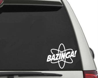 Bazinga car decal sticker