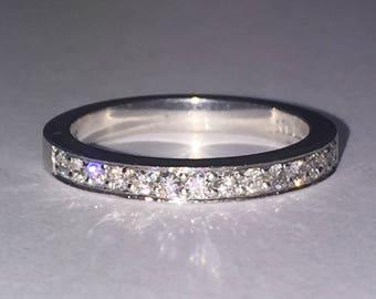 18K White Gold & Diamond Band by Anton Jewelers. Total diamonds' weight: 0.80ct.