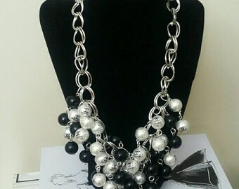 Designer Inspired Beaded Chain Necklace & Bracelet Set