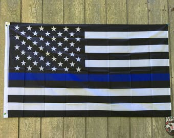 Thin Blue Line 5'x3' Outdoor American Flag
