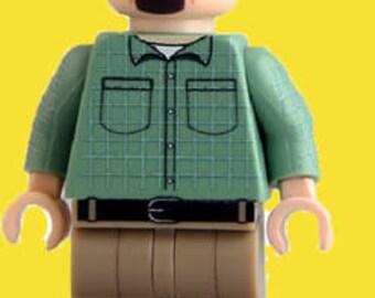 Walter White Breaking Bad AMC Custom Minifigure v3 100% Lego Compatible!