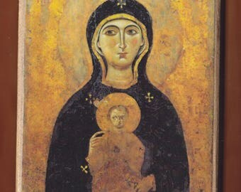 Madonna Nicopeia (9th or 10th century), St. Luke,  St. Mark's Basilica,Venice, Italy.Christian orthodox icon. FREE SHIPPING