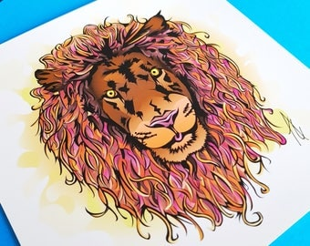 Lion Postcard With Envelope 148mmx148mm