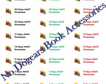 Kwanzaa Countdown Stickers / Planner Stickers / Calendar Stickers / Days Until Kwanzaa Stickers